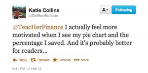 Katie's tweet